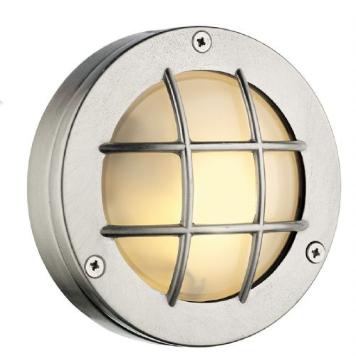 Pembroke Round Wall Light Nickel IP44 (Hand made, 7-10 day Delivery)